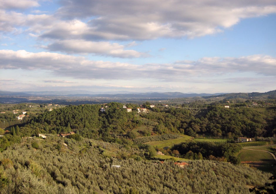 Panorama from Montaio. Il Colombaio is on the left of the picture
